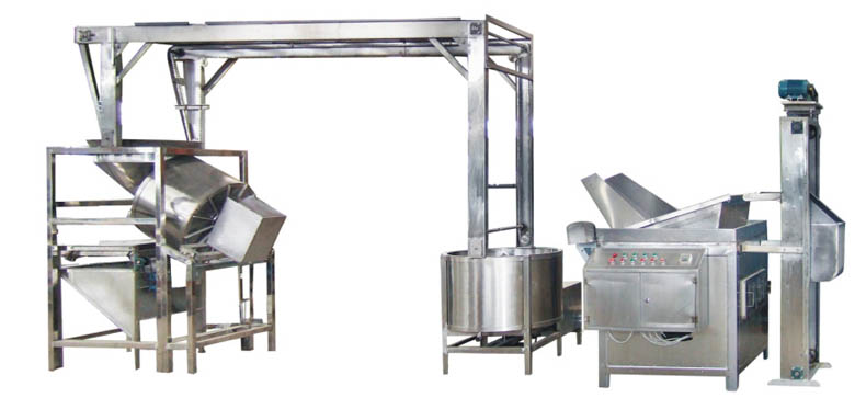 Peanut frying production line
