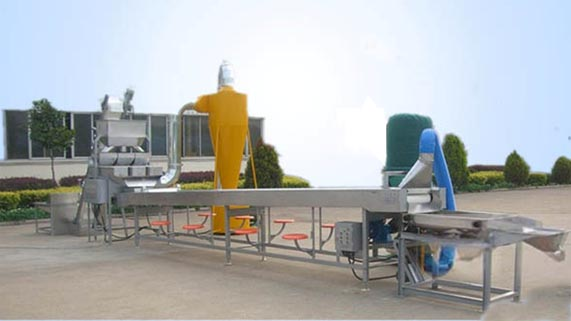 Peanut shelling equipment production line