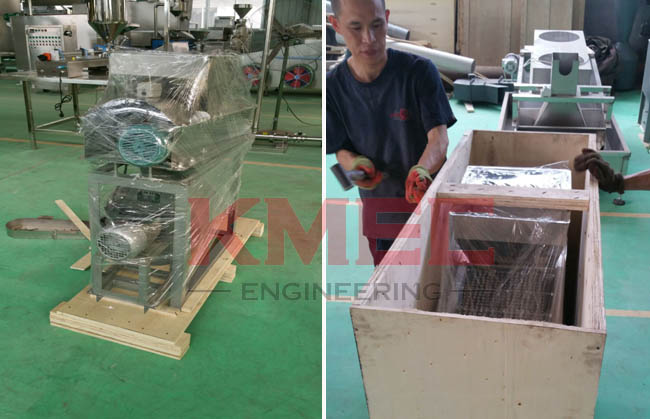 Packing of Peanut Peeling Machine