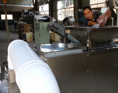Video of peanut splitting machine working