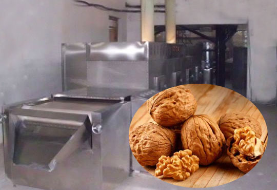 Microwave walnut dryer